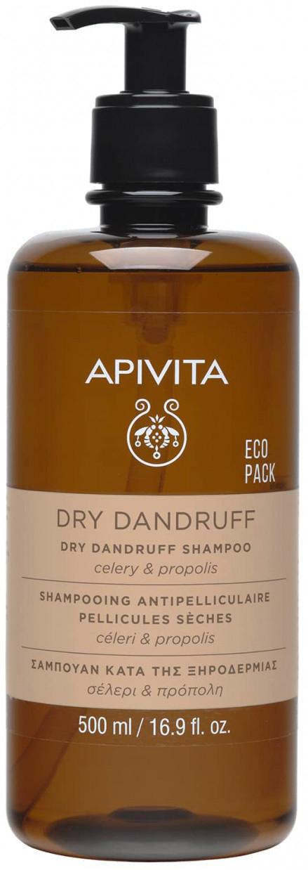 Apivita Dry Dandruff Σαμπουάν Με Σέλερι & Πρόπολη, 500ml