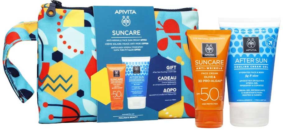 Apivita Suncare Anti-Wrinkle Face Cream SPF50, 50ml & Δώρο After Sun Cooling Cream-Gel, 100ml