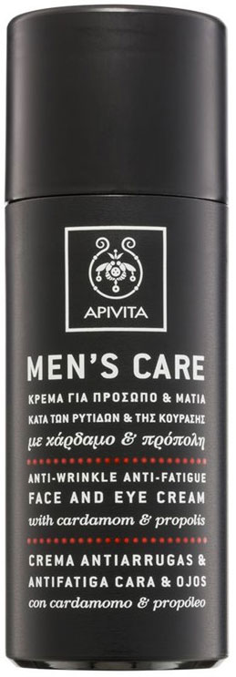 Apivita Mens Care Κρέμα για πρόσωπο & μάτια με Κάρδαμο & Πρόπολη,50ml