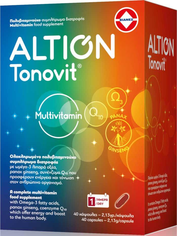 Altion Tonovit, 40 Μαλακές Κάψουλες