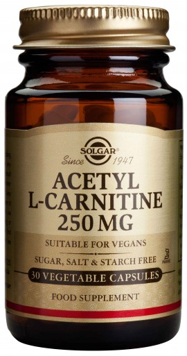 Solgar Acetyl- L- Carnitine 250mg, 30 Κάψουλες