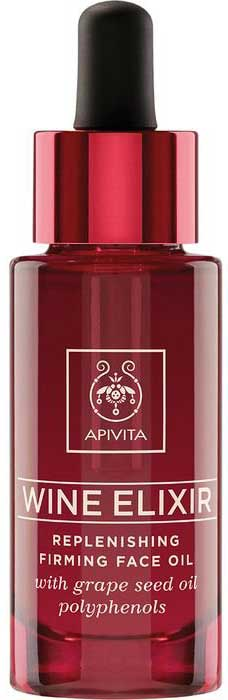 Apivita Wine Elixir Replenishing Firming Face Oil, 30ml