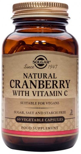 Solgar Cranberry Extract With Vitamin C, 60 Κάψουλες