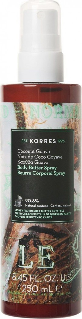Korres Body Butter Spray Καρύδα Guava, 250ml