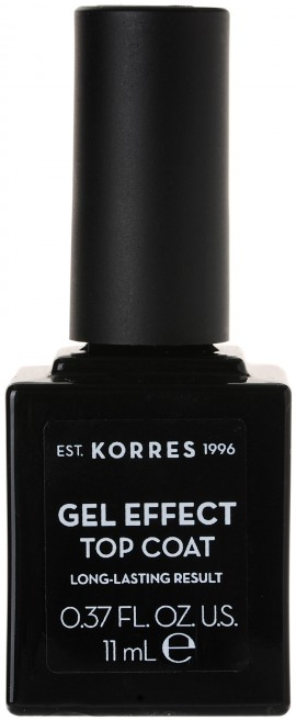 Korres Gel Effect Nail Color Top Coat, 11ml
