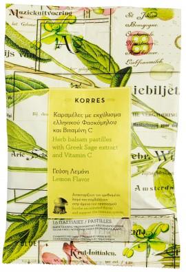 Korres Καραμέλες Με Εκχύλισμα Ελληνικού Φασκόμηλου & Βιταμίνη C, 16 Τεμάχια