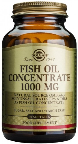 Solgar Fish Oil Concentrate 1000mg, 60 Κάψουλες