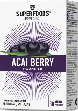 Superfoods Acai Berry, 30 Κάψουλες