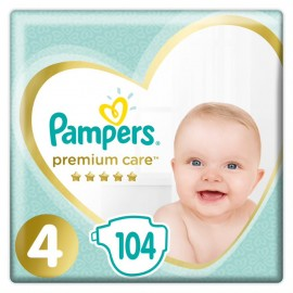 Pampers Premium Care No4 (9-14 kg), 104 Τεμάχια