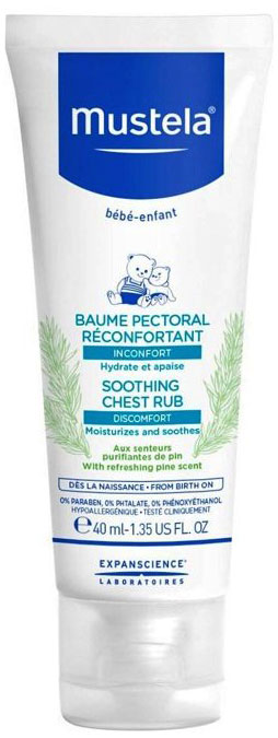 Mustela Soothing Chest Rub, 40ml