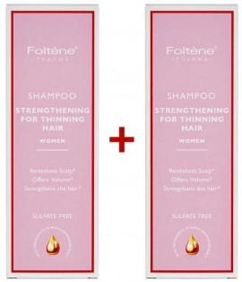 Foltene Shampoo Strengthening For Thinning Hair Women 1+1 Δώρο, 200ml