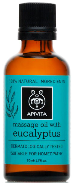 Apivita Μαssage Oil With Eucayptus, 50ml