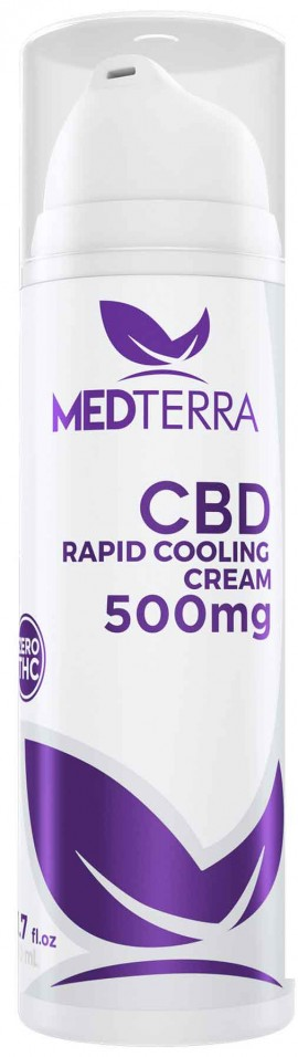 Medterra CBD Rapid Cooling Cream 500mg, 50ml