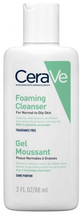 CeraVe Foaming Cleanser Κανονική- Λιπαρή Επιδερμίδα, 88ml