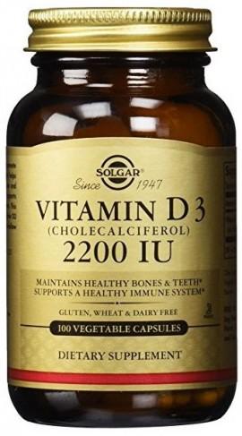 Solgar Vitamin D3 2200IU, 100 Κάψουλες