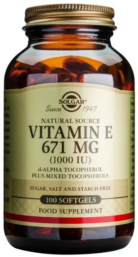 Solgar Vitamin E671mg 1000IU, 100 Κάψουλες