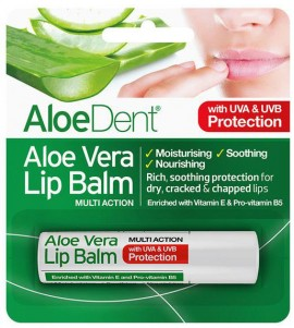 Optima AloeDent Aloe Vera Lip Balm, 4gr