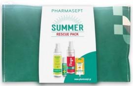 Pharmasept Set Summer Rescue Pack Insect Lotion 100ml & Sos After Bite Roll-On 15ml & Flogo Instant Calm Spray 100ml & Arnica Cream Gel 15ml