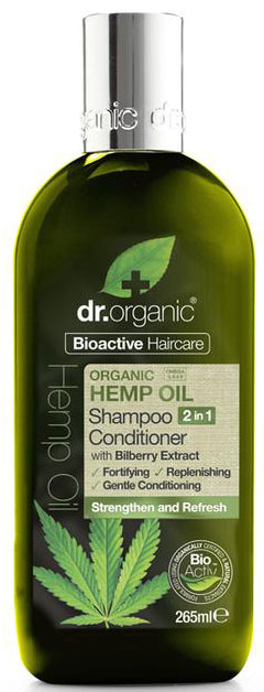 Dr. Organic Hemp Oil 2 in 1 Shampoo & Conditioner, 265ml