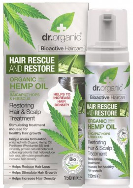 Dr. Organic Hemp Oil Hair & Scalp Treatment Mousse, 150ml