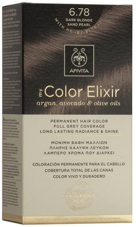 Apivita My Color Elixir 6.78 Ξανθό Σκούρο Μπέζ Περλέ