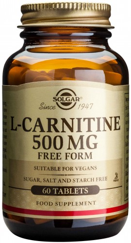 Solgar L- Carnitine 500mg, 60 Ταμπλέτες