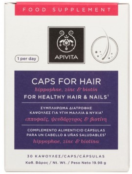Apivita Holistic Hair Care Caps For Hair, 30 Κάψουλες