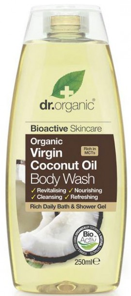 Dr. Organic Coconut Oil Body Wash, 250ml