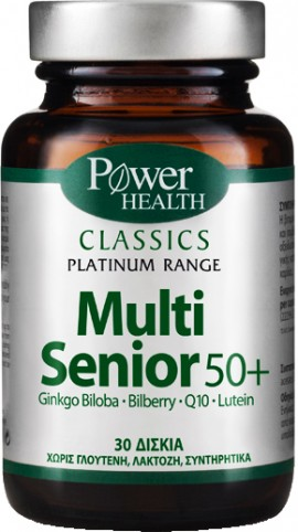 Power Health Platinum Multi Senior 50+, 30 Κάψουλες