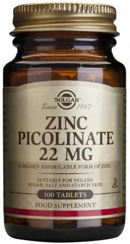 Solgar Zinc 22mg, 100 Ταμπλέτες
