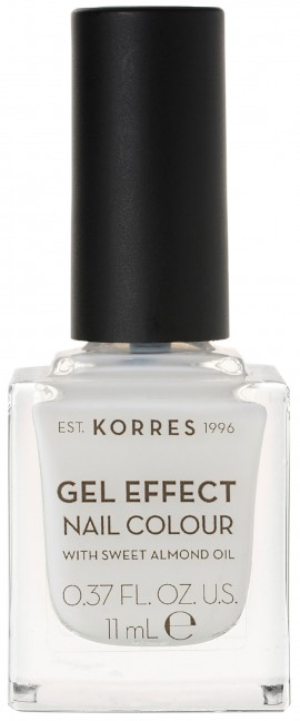 Korres Gel Effect Nail Color 02 Porcelain White, 11ml