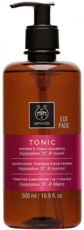 Apivita Womens Tonic Σαμπουάν Για Γυναίκες Με Ιπποφαές & Δάφνη, 500ml