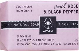 Apivita Σαπούνι Με Τριαντάφυλλο & Μαύρο Πιπέρι,125gr