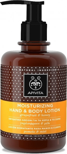 Apivita Moisturising Hand & Body Lotion, 300ml