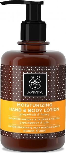 Apivita Moisturising Hand & Body Lotion, 300ml