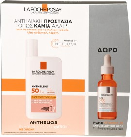 La Roche Posay Set Anthelios Invisible Tinted Fluid SPF50+ 50ml & Δώρο Pure Vitamin C10 10ml