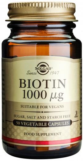 Solgar Biotin 1000mg, 50 Κάψουλες