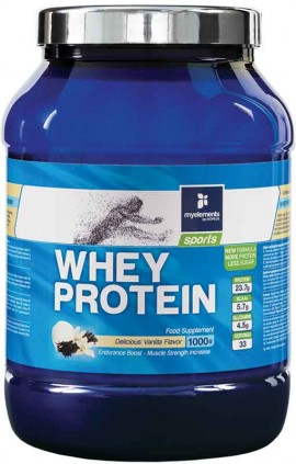 My Elements Whey Protein Γεύση Βανίλια, 1000gr Powder