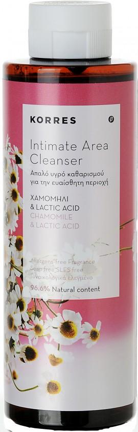 Korres Intimate Area Cleanser Με Χαμομήλι & Lactic Acid, 250ml