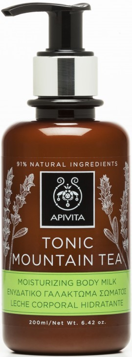Apivita  Tonic Mountain Tea Moisturising Body Milk,200ml