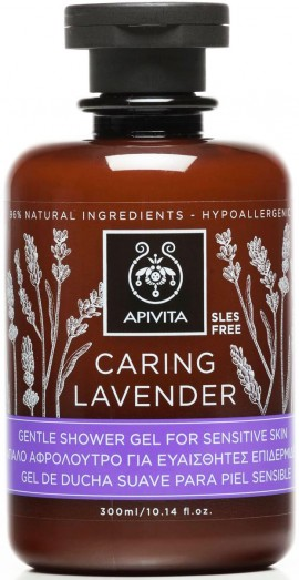 Apivita  Caring Lavender Shower Gel,300ml