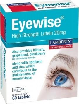 Lamberts Eyewise High Strength Lutein 20mg, 60 Ταμπλέτες