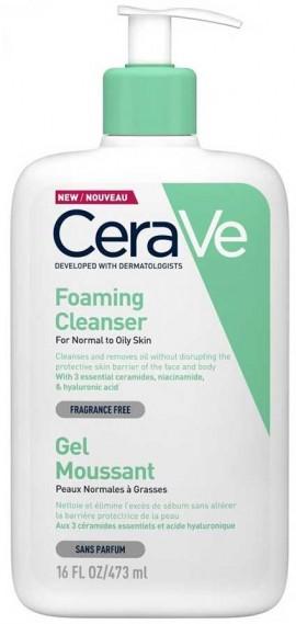 CeraVe Foaming Cleanser Κανονική- Λιπαρή Επιδερμίδα, 473ml