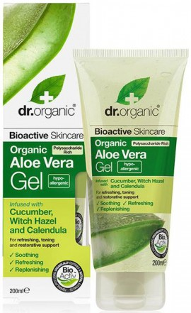 Dr. Organic Aloe Vera Gel With Cucumber, 200ml