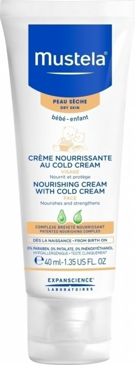 Mustela Nourishing Cream With Cold Cream Face, 40ml