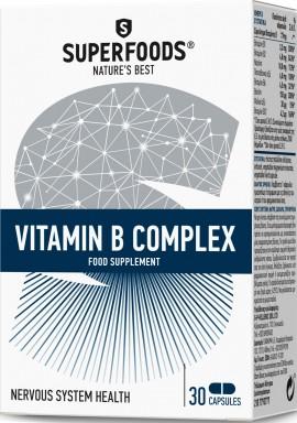 Superfoods Σύμπλεγμα Βιταμίνης Β, 30 Κάψουλες