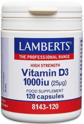 Lamberts Vitamin D3 1000iu, 120 Καψουλες