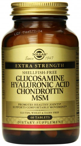 Solgar Extra Strength Glucosamine Chondroitin MSM, 60 Ταμπλέτες