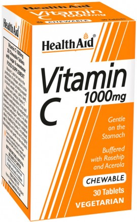 Health Aid Vitamin C 1000mg, 30 Ταμπλέτες