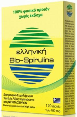 Protonex Ελληνική Bio-Spirulina 400mg, 120 Ταμπλέτες